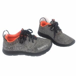 SUPERDRY SCUBA RUNNER TRAINERS GRAY AND ORANGE
